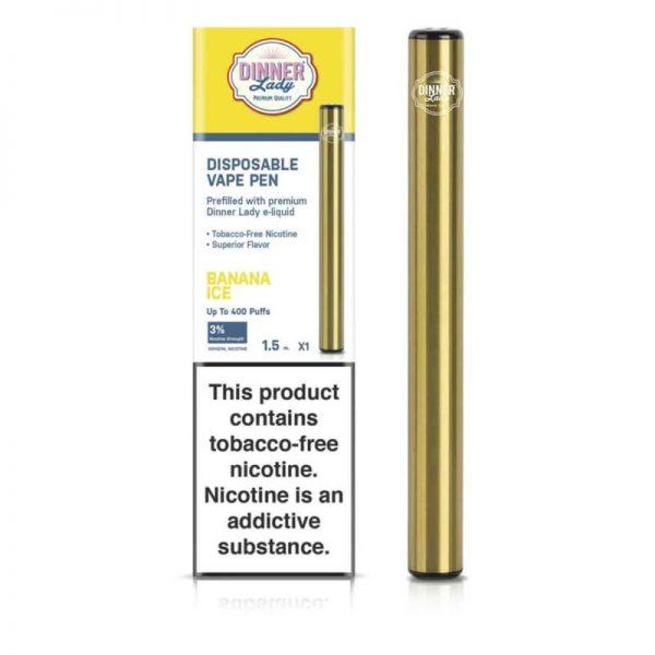 Dinner Lady Tobacco Free Nicotine Disposable Vape Pen - BANANA ICE 30MG