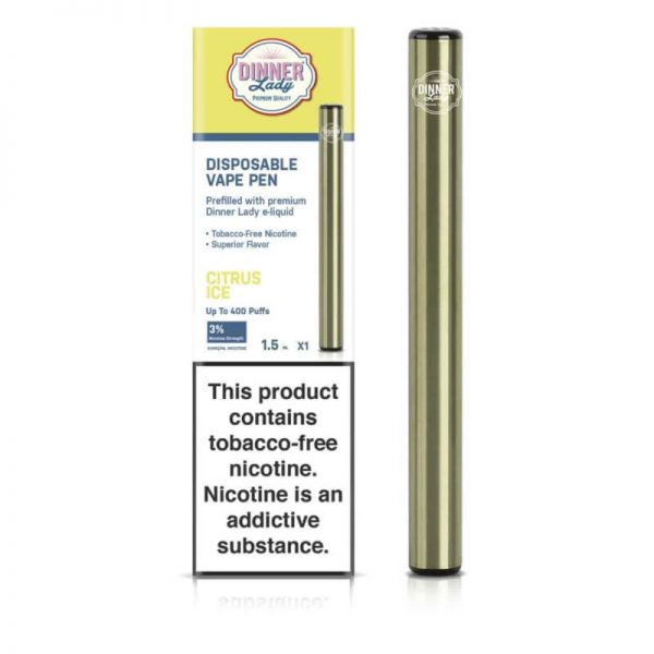 Dinner Lady Tobacco Free Nicotine Disposable Vape Pen - CITRUS ICE 30MG