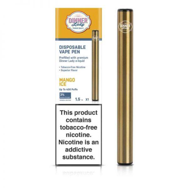 Dinner Lady Tobacco Free Nicotine Disposable Vape Pen - MANGO ICE 30MG